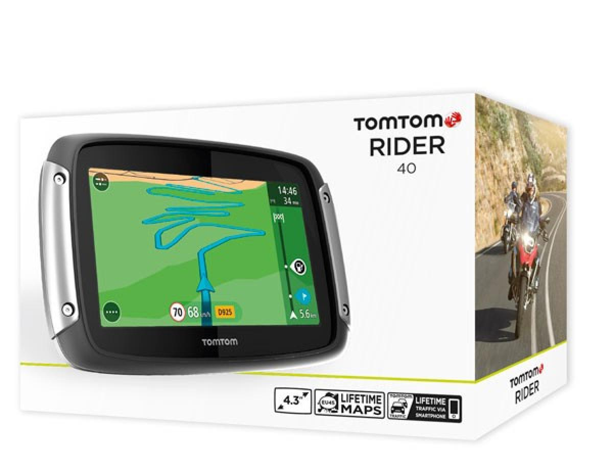 tom tom rider 40 we motorcycle sat nav new tomtom ebay. Black Bedroom Furniture Sets. Home Design Ideas