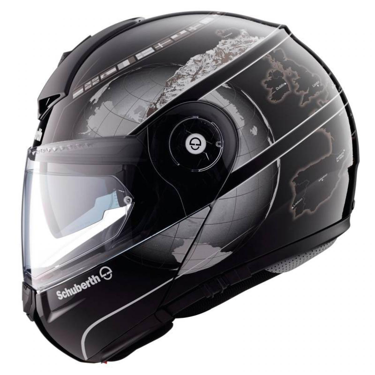 schuberth c3 pro flip front motorcycle helmet europe graphic reduced ebay. Black Bedroom Furniture Sets. Home Design Ideas