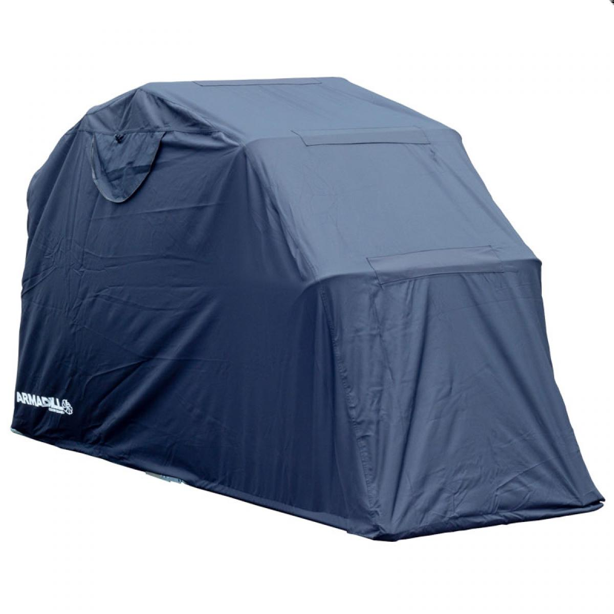 Armadillo motorcycle scooter folding design garage shelter waterproof 600 d ebay - Motorcycle foldable garage tent cover ...