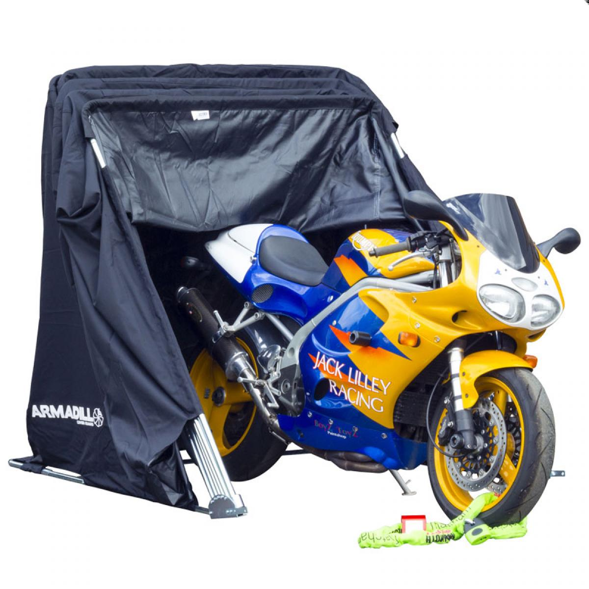 Armadillo motorcycle scooter folding design garage waterprrof shelter medium ebay - Motorcycle foldable garage tent cover ...