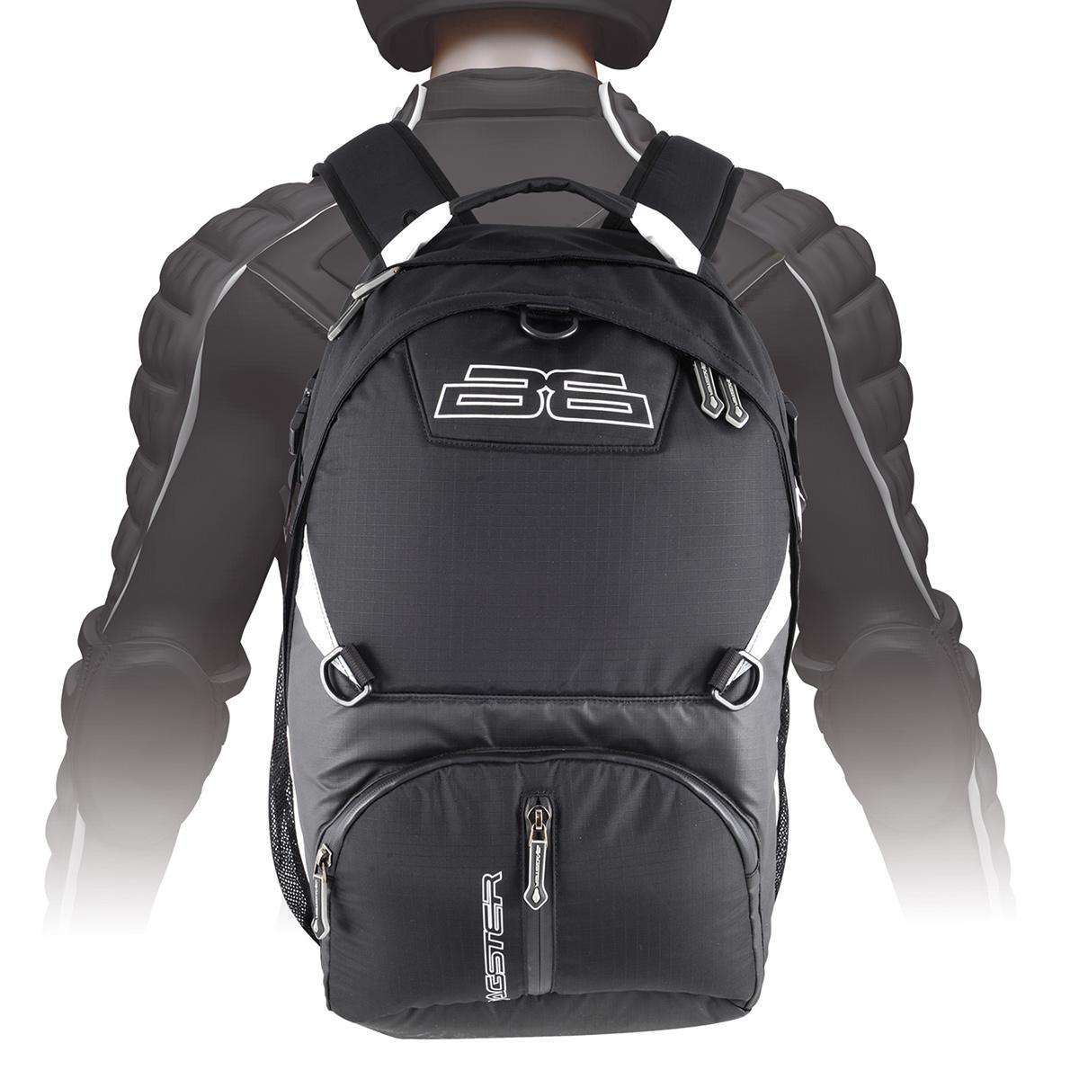 bagster trek 35 litre motorcycle backpack rucksack black sale ebay. Black Bedroom Furniture Sets. Home Design Ideas