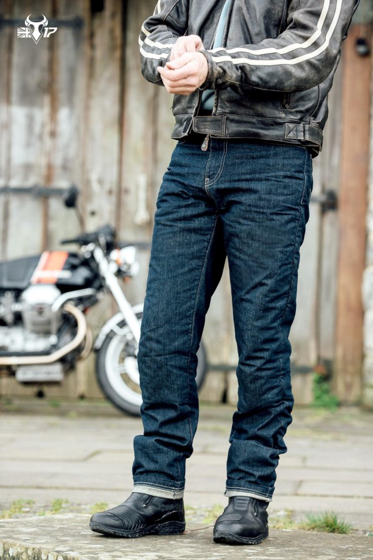 Blue 40 Bull-It SR6 Vintage 17 Straight Covec Motorcycle Jeans Trousers Short