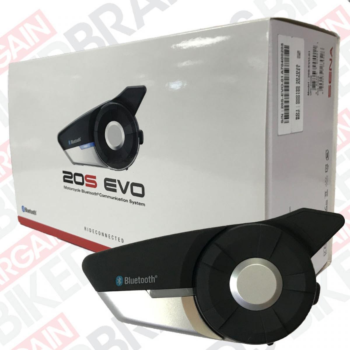 NEW SENA 20S EVO BLUETOOTH 4.1 DUAL PACK HELMET COMMUNICATOR RADIO MOTORCYCLE