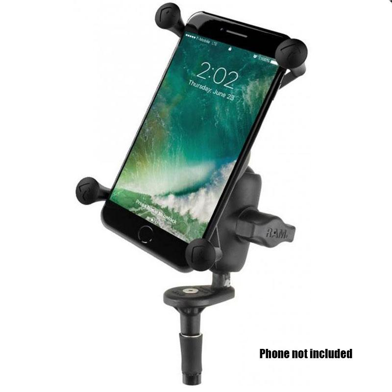 """RAM X-Grip Holder Cradle with 1/"""" Ball for Large Device Plus Size Smartphone"""