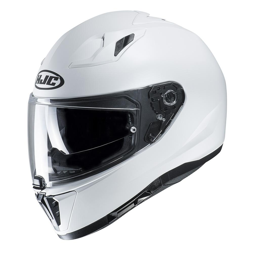 2417dcd4 HJC I70 Full Face Motorcycle Motorbike Helmet - Plain Matt White | eBay