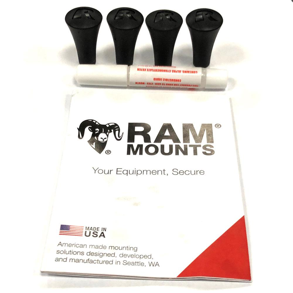 Ram Mount Parts >> Details About Ram Mount Replacement X Grip Stoppers 4 Pieces Supplied